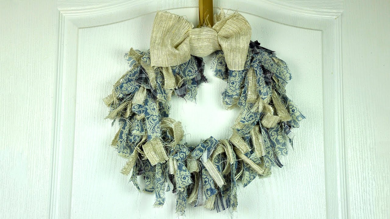 DIY Fabric Wreath - YouTube