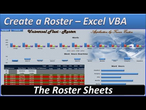 Roster - Create a Roster -Roster Template - Hours and Overtime -The Roster Sheet