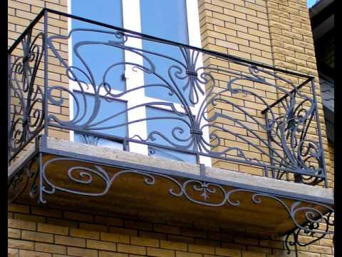 Перила 104  Кованые балконные ограждения в Днепропетровске фото ковка ограждение для балкона металл