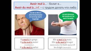 "Уроки французского #67: Выражения "" avoir mal à qch "" и "" avoir du mal à faire qch ""  Лексика!"