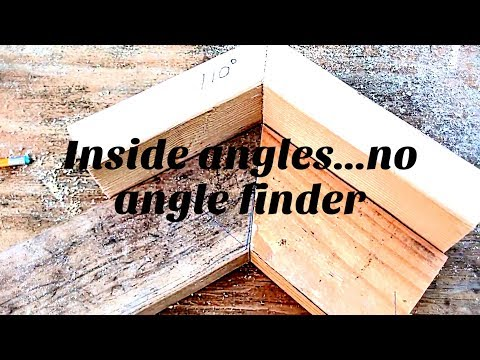 DIY inside angles without an angle finder! Must Watch!