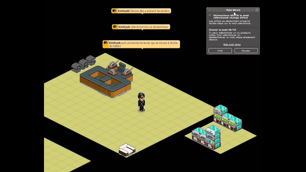 wired habbo cr er un sas et un bureau de recrutement youtube. Black Bedroom Furniture Sets. Home Design Ideas