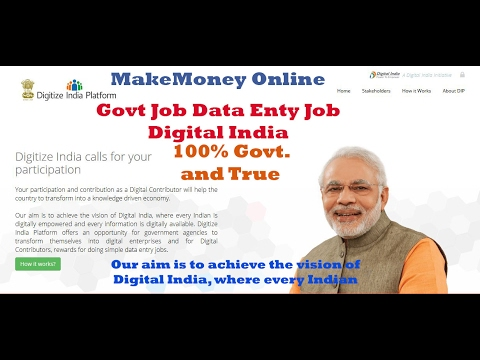 Narendra Modi Provide Government Online Data Entry Job | 100% True