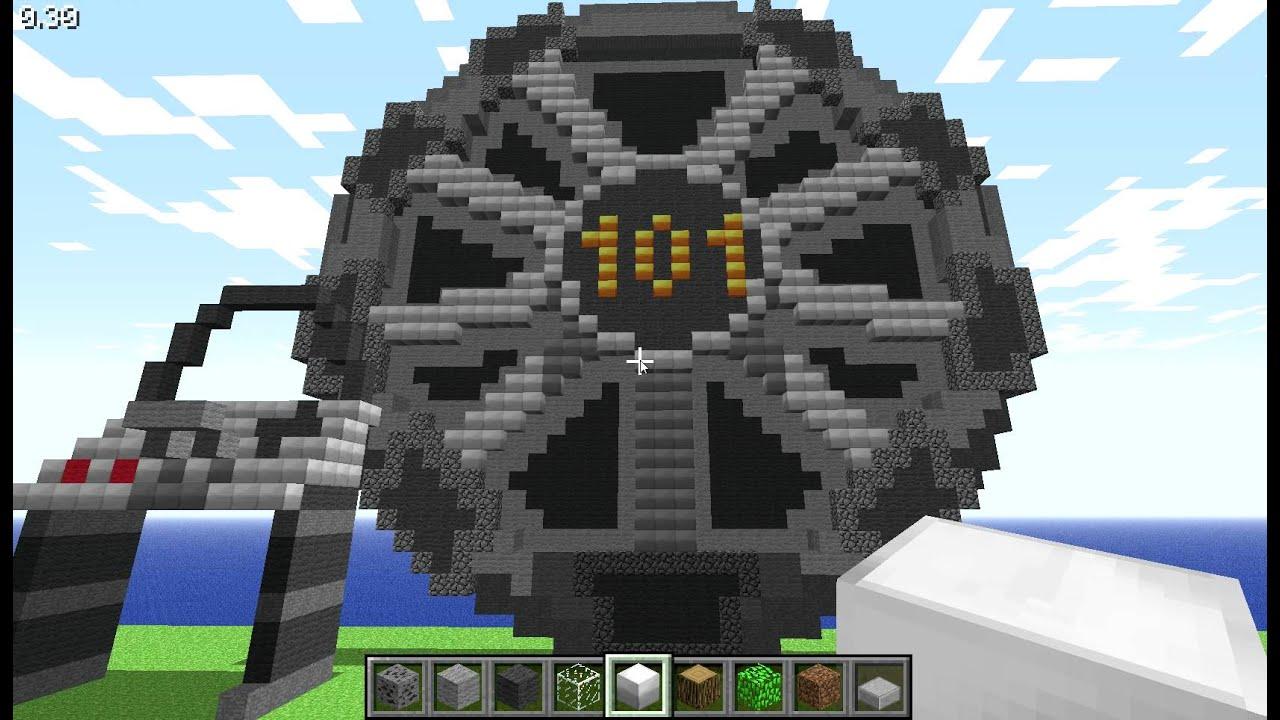Fallout 3 Giant Vault 101 Door In Minecraft Youtube