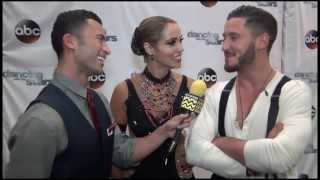 Dancing with the Stars - Elizabeth Berkley & Val Chmerkovskiy AfterBuzz TV Interview September 30th