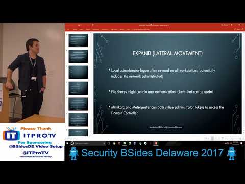 BSides Delaware 2017 Alex Reuben   Cats Cats & Moar Katz   Windows Post Exploitation