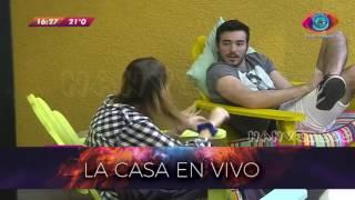 Gh 2016 15 08 Yasmila Y Pato En El Patio Gran Hermano 2016