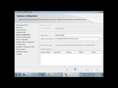 MS SQL 2008 Standard Installation