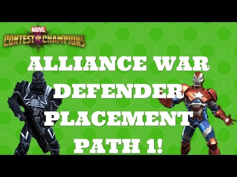 ALLIANCE WAR DEFENDER PLACEMENT PATH 1! | Marvel Contest of Champions