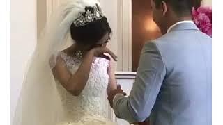 Невеста плачет, заботливый жених, свадьба года, Кавказ, шикарная свадьба, жених и невеста, Казахстан