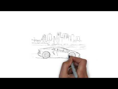 Рисунок машины в Adobe Illustrator