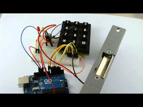 Door Lock from 30 Arduino Projects for the Evil Genius (second edition)