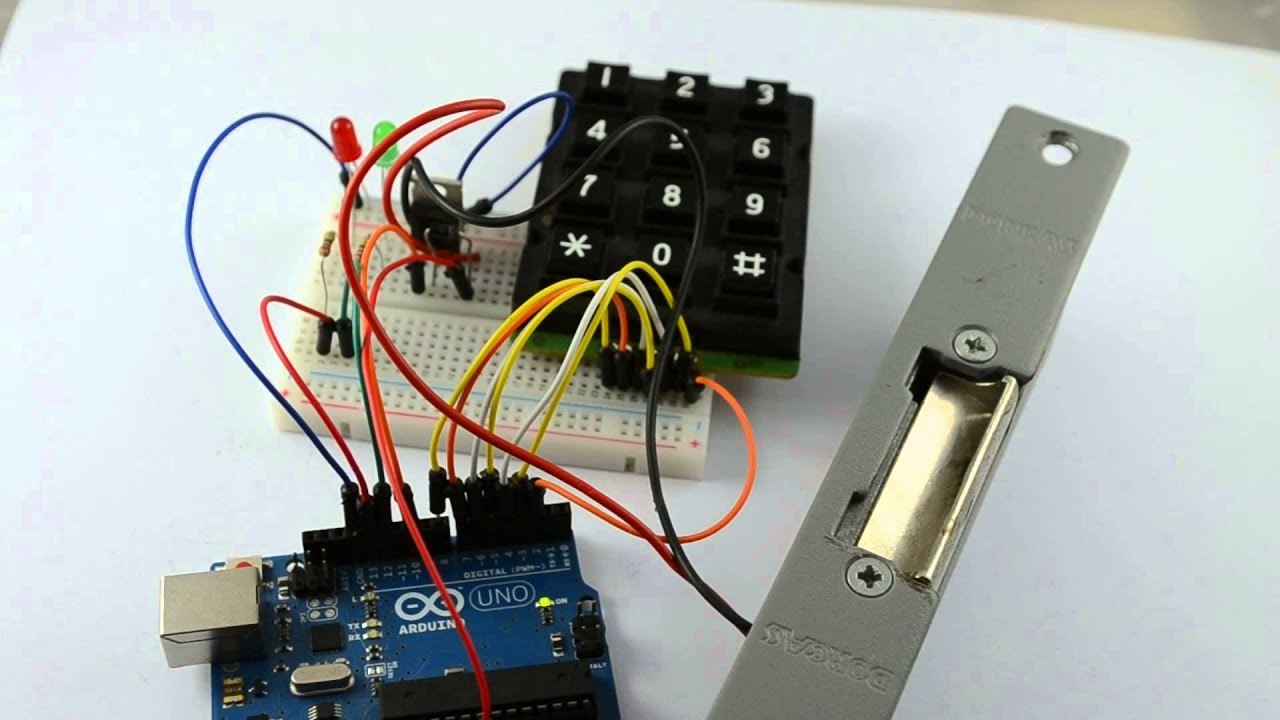 Door Lock From 30 Arduino Projects For The Evil Genius