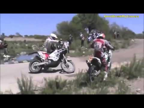 Motorcycle Fail and Falls Dakar Rally