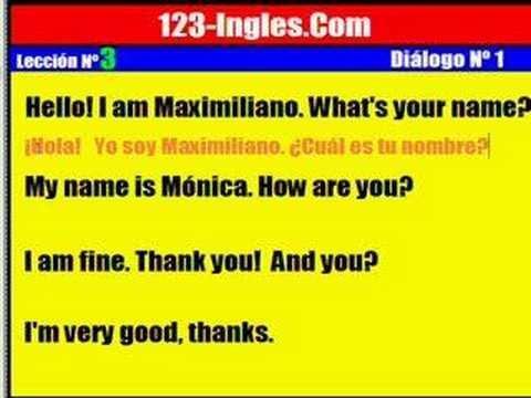 Curso de Inglés. Lección 3. Diálogo Nº 1