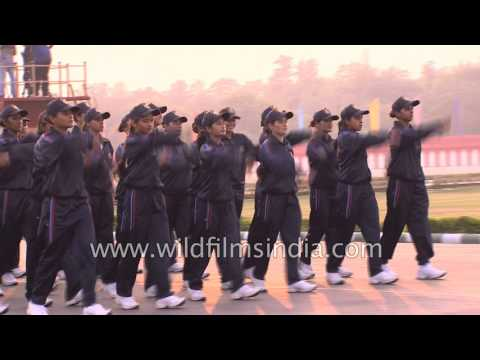 Young women cadets from India march into their future careers