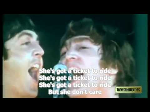 Ticket To Ride - The Beatles - subtitled