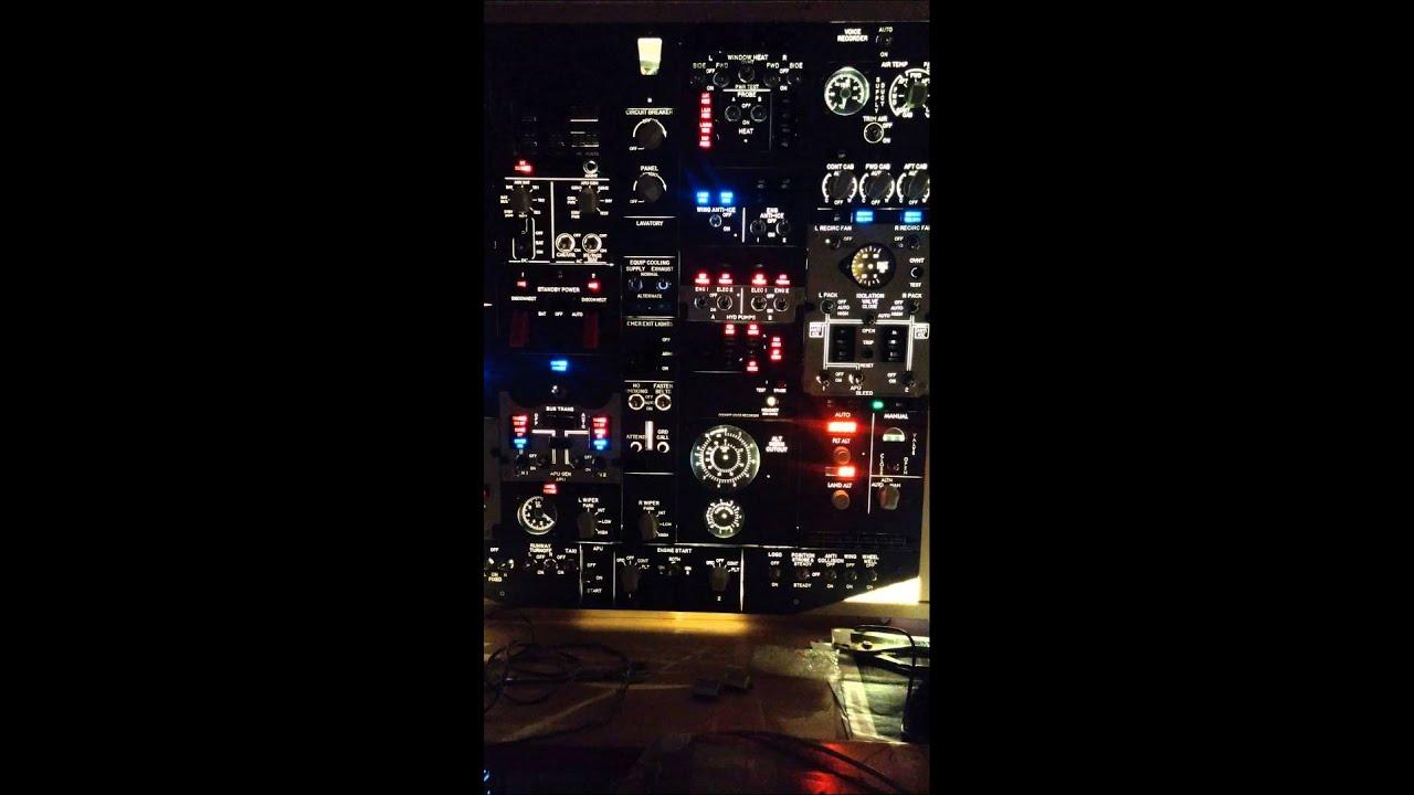 Home cockpit 737-800 DIY Overhead
