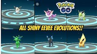 All Shiny Eevee Evolutions in Pokemon Go