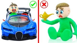 SUPERHERO BABY SPORT CAR VEHICLE 💖 Animation Cartoons Play Doh