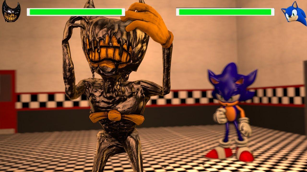 Bendy And The Ink Machine vs Sonic WITH Healthbars!