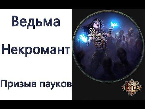 Path Of Exile: (3.6) ТОР Ведьма петовод - Некромант -  Призыв пауков (Summon Spider)