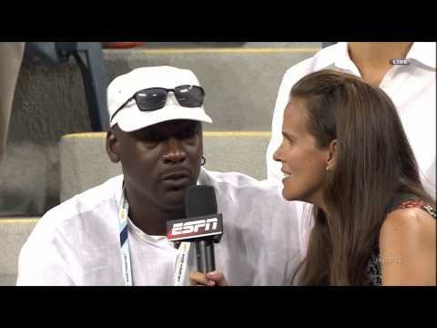 Michael Jordan Interview  - US Open