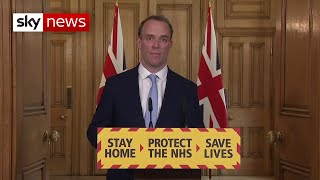 Raab: PM 'continues to lead government' while in hospital due to COVID-19