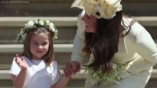 Princess Charlotte works the crowd at royal wedding