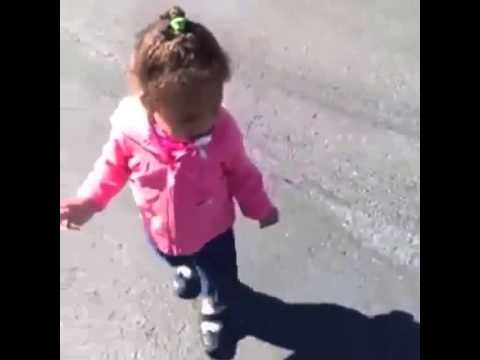 Funny video of a little girl scared of her shadow youtube