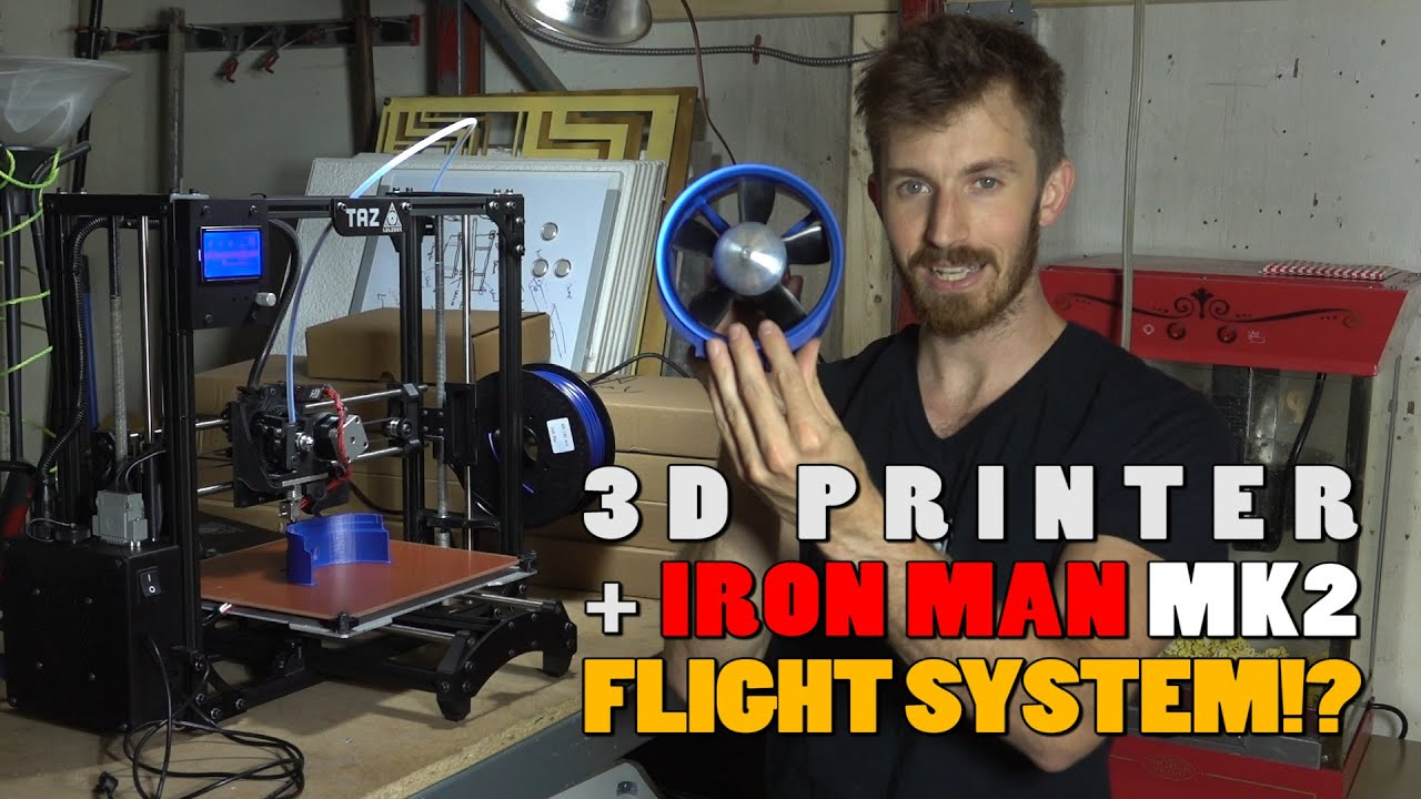 VLOG 003 We got a 3D printer And ELECTRIC JET TURBINES