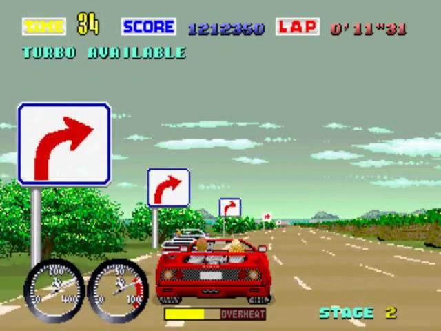 Jouez à Turbo Outrun sur Arcade grâce à nos bartops et consoles retrogaming