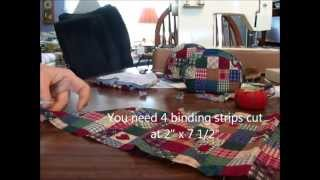 Sewing A Small Coin Purse Part 2--sewing The Binding