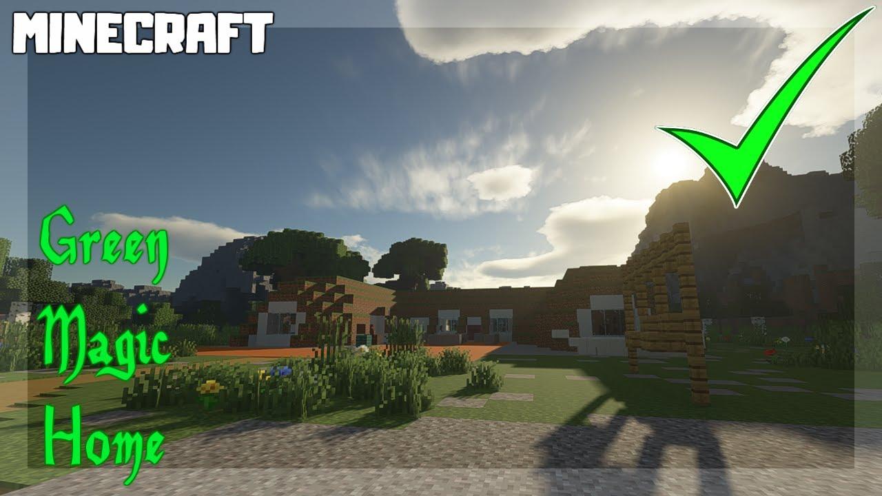 Green Magic Home Murano Hobbit Hole MINECRAFT Map Download!