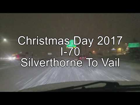 Christmas Day 2017 - Silverthorne To Vail On I-70 - 12/25/2017