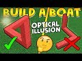 OPTICAL ILLUSION in Build a boat!🧠 (you need to see this) | Roblox