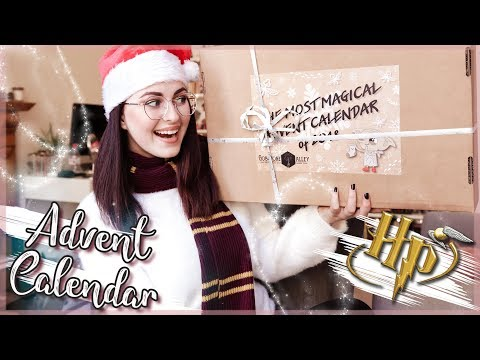 HARRY POTTER ADVENT CALENDAR UNBOXING FROM GOBSTONE ALLEY 2018   Book Roast
