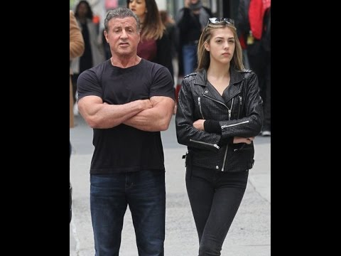 Sylvester Stallone and his daughter