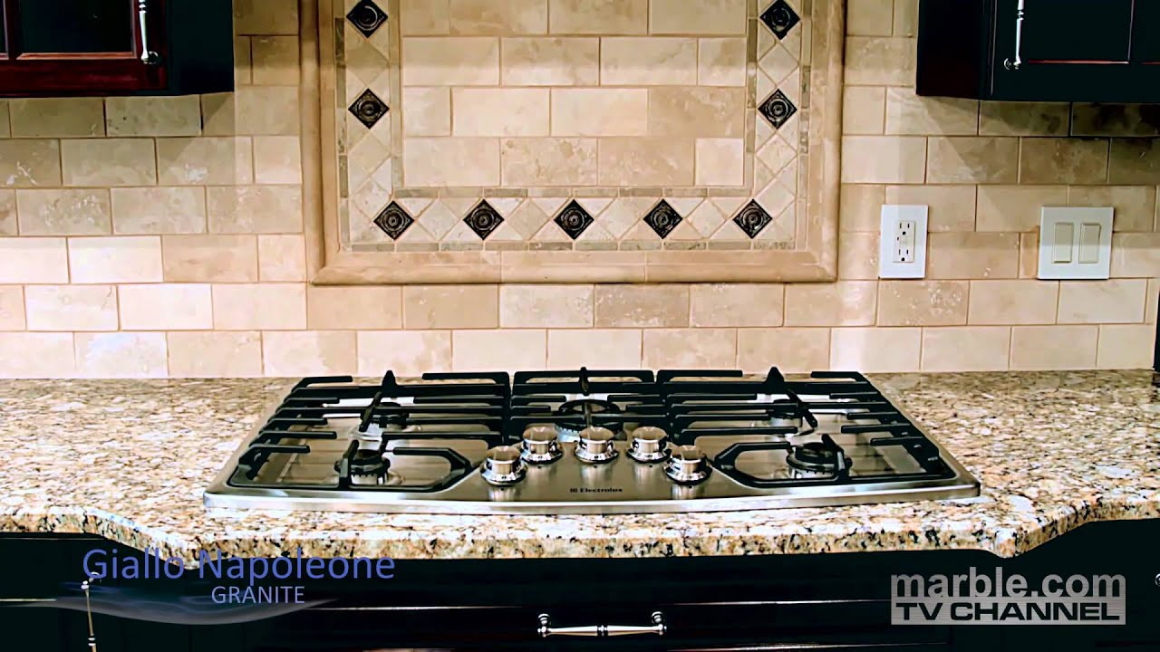 Giallo Napoleone Granite Kitchen Countertops Youtube
