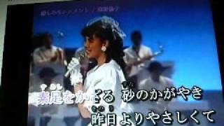 南野陽子☆家カラオケ「悲しみモニュメント」(本人映像)