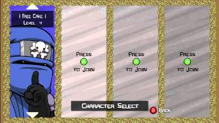 Castle Crashers Level 4 Stats Like a 256 All Unlocks Weapons And Pets For Free!