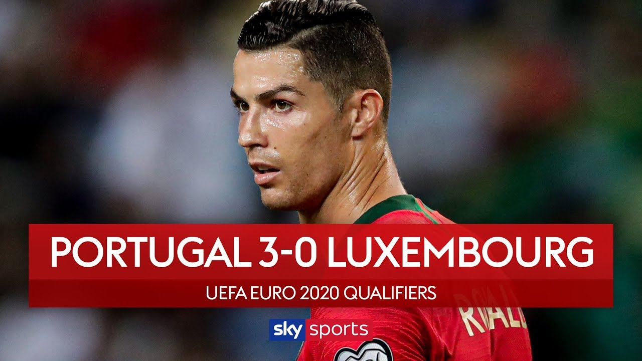 Ronaldo scores sublime chip in Portugal win | Portugal 3-0 Luxembourg | UEFA Euro 2020 Qualifiers