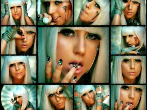 LADY GAGA POKER FACE WITH PHOTOS  / PICTURES OF THE SINGER CON FOTO DELLA CANTANTE