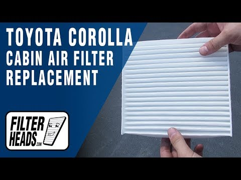 how to replace cabin air filter 2013 toyota corolla -