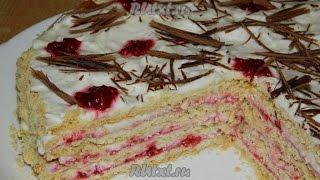 Песочный торт(Вкусный домашний песочный торт со сливочным кремом, безусловно, понравится взрослым, а наличие в начинке..., 2014-11-24T19:17:37.000Z)
