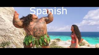You're Welcome but every time Maui says You're Welcome it switches languages