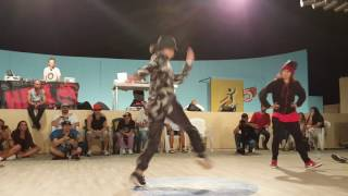 Who's the One? Bgirl battle 2016 Crazy Lee vs Nightmare (Semi-Final )