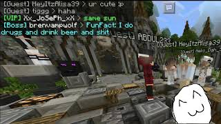 The girl trolling in minecraft funny