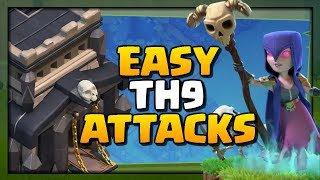 EASY TH9 Attacks! Top 3 Strategies for 3 Stars in Clash of Clans!