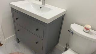 IKEA Hemnes / Odensvik / Dalskär bathroom vanity installation